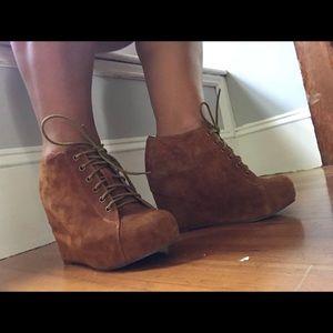 Jeffrey Campbell Shoes Black Digi Spike Loafer Flat